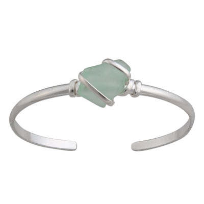 alpaca-recycled-glass-mini-cuff-seafoam-green - 1 - Charles Albert Inc