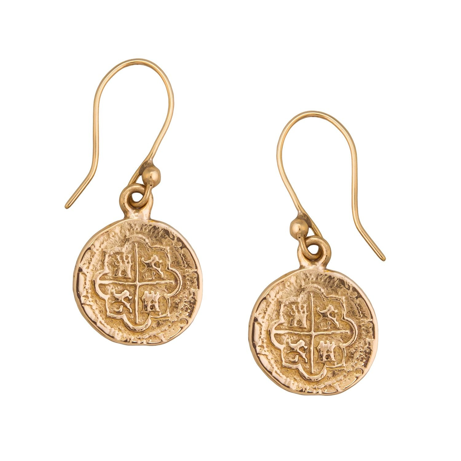 Alchemia Replica Spanish Coin Drop Earrings | Charles Albert Jewelry