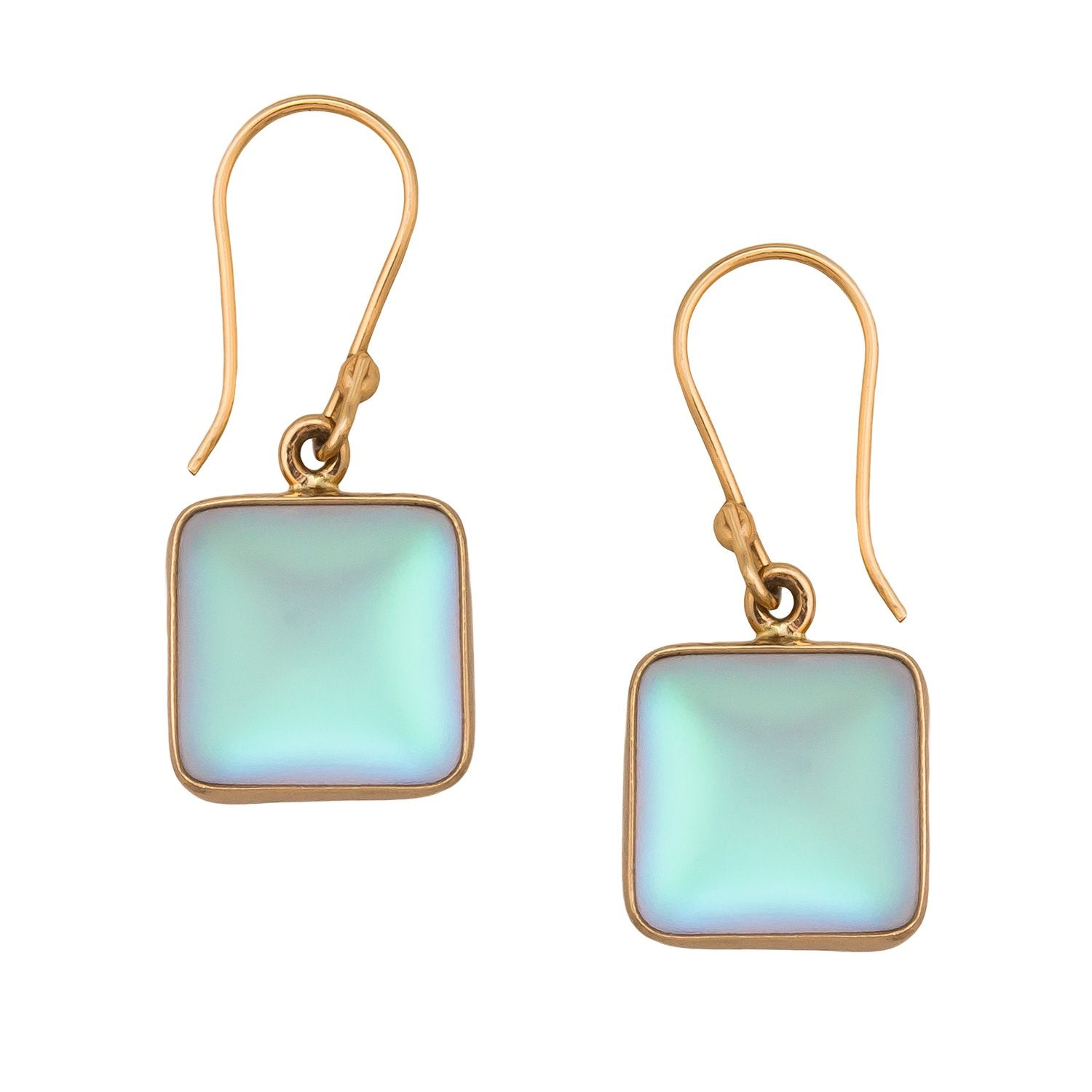 Alchemia Square Luminite Drop Earrings
