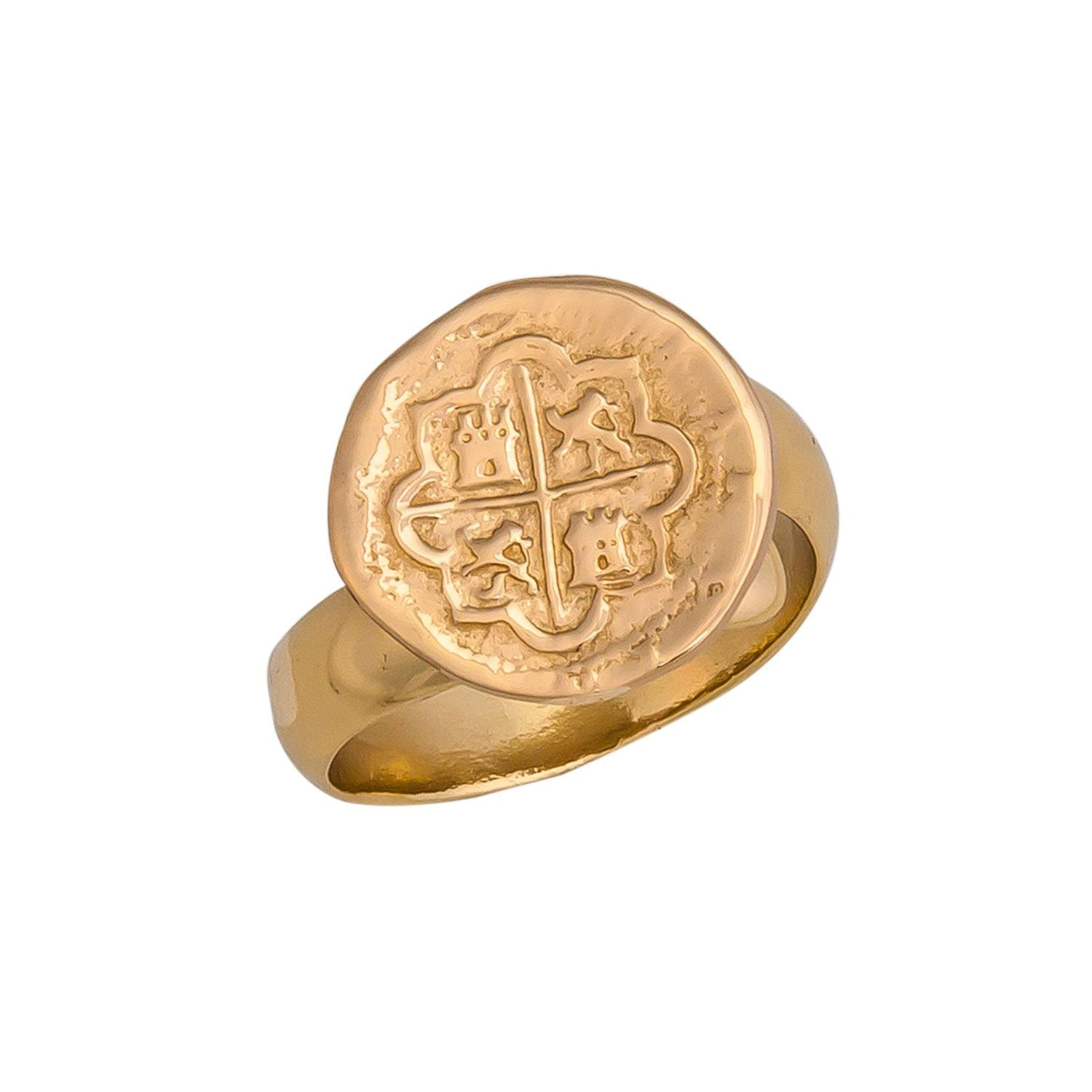 Alchemia Replica Spanish Coin Adjustable Ring | Charles Albert Jewelry