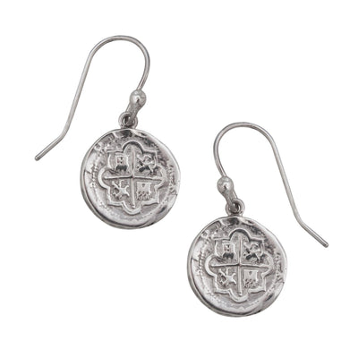 sterling-silver-spanish-coin-earrings - 1 - Charles Albert Inc