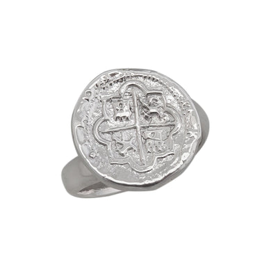 sterling-silver-spanish-coin-adjustable-ring - 2 - Charles Albert Inc