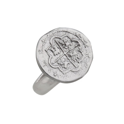 sterling-silver-spanish-coin-adjustable-ring - 3 - Charles Albert Inc