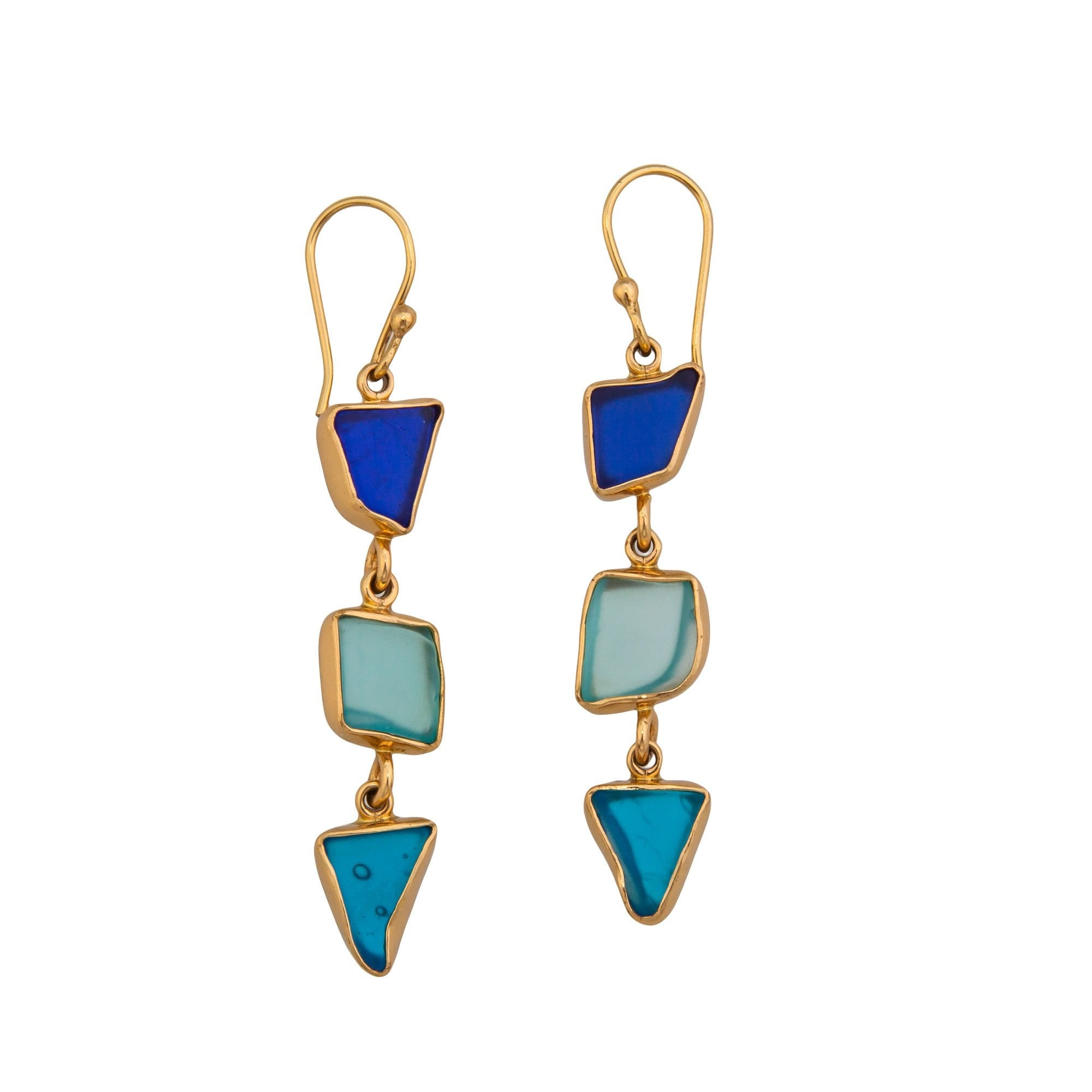Alchemia Recycled Multi-Color Glass Earrings