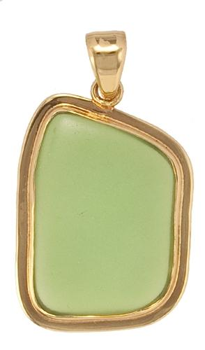 Alchemia Green Recycled Glass Pendant with Lip | Charles Albert Jewelry