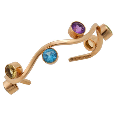 alchemia-multi-gemstone-wave-cuff - 2 - Charles Albert Inc
