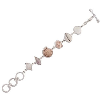 sterling-silver-multi-shell-bracelet - 4 - Charles Albert Inc