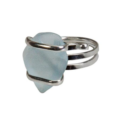 alpaca-recycle-glass-freeform-rings-seafoam-blue - 3 - Charles Albert Inc