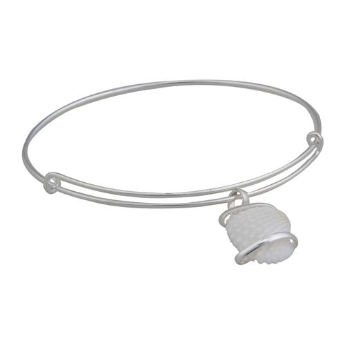 Alpaca Ark Shell Adjustable Bangle | Charles Albert Jewelry