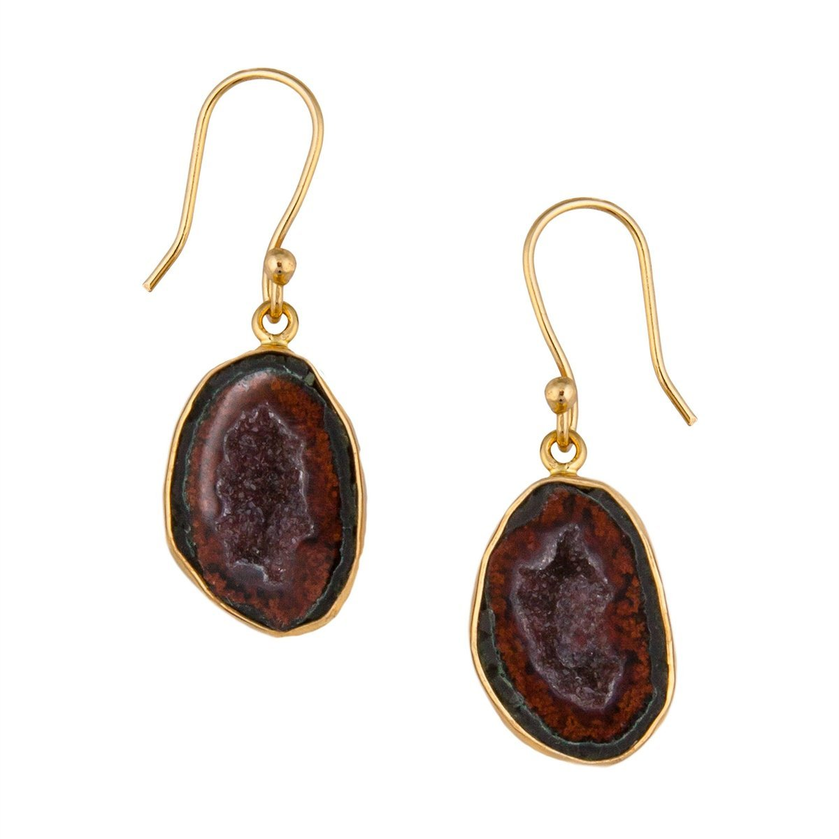 Alchemia Tabasco Geode Earrings | Charles Albert Jewelry