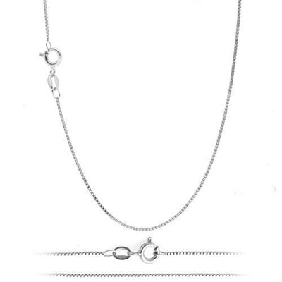 "Sterling Silver 16"" Box Chain -  1 mm"