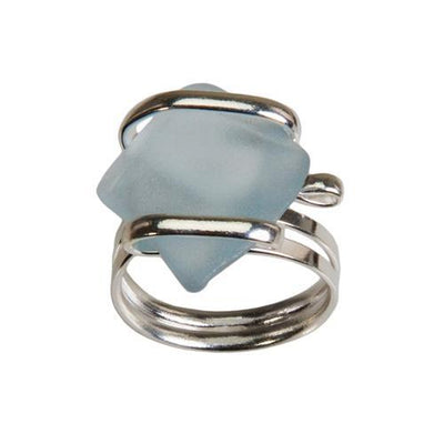 alpaca-recycle-glass-freeform-rings-seafoam-blue - 2 - Charles Albert Inc