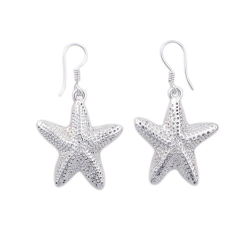 Sterling Silver Starfish Drop Earrings | Charles Albert Jewelry