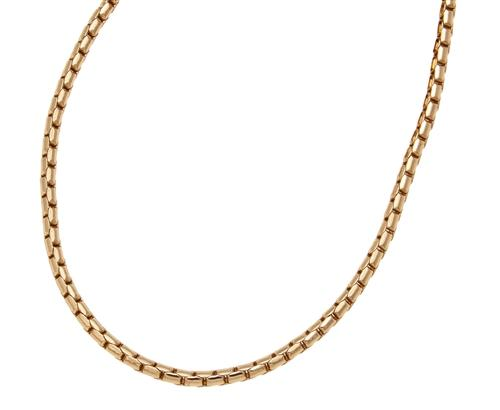 Gold Tone Base Metal Box Chain