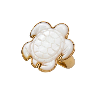 alchemia-mother-of-pearl-sea-turtle-adjustable-ring - 2 - Charles Albert Inc