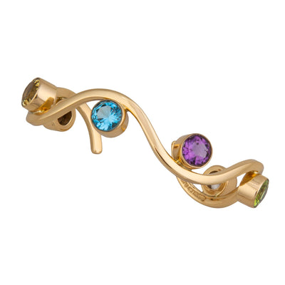alchemia-multi-gemstone-wave-cuff - 1 - Charles Albert Inc