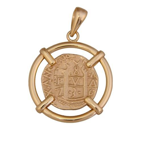 Alchemia Replica Treasure Coin Prong Set Pendant | Charles Albert Jewelry