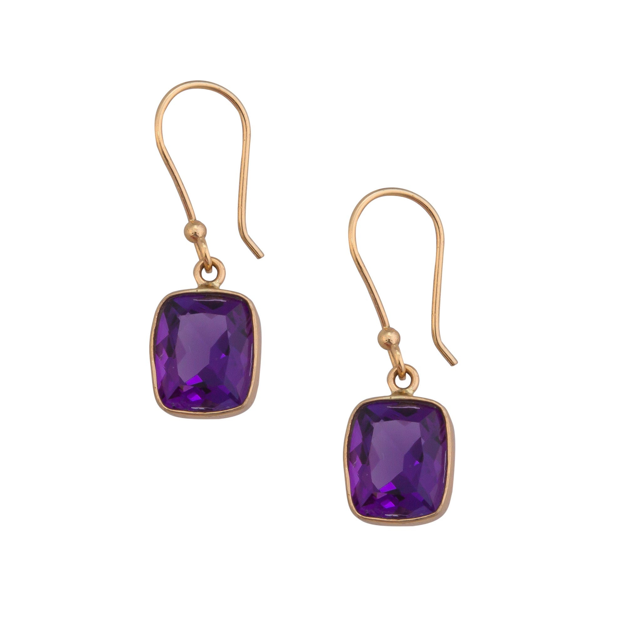 Alchemia Amethyst Rectangle Drop Earrings | Charles Albert Jewelry