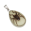 Sterling Silver Recluse Spider Glow in the Dark Pendant | Charles Albert Jewelry