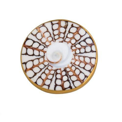 Alchemia White Spiral Shell Ring