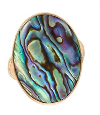 Alchemia Natural Abalone Adjustable Ring | Charles Albert Jewelry