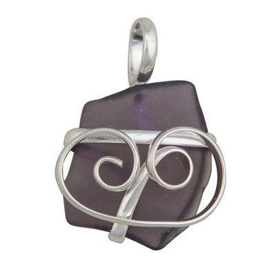 alpaca-recycled-glass-freeform-pendants-purple - 1 - Charles Albert Inc