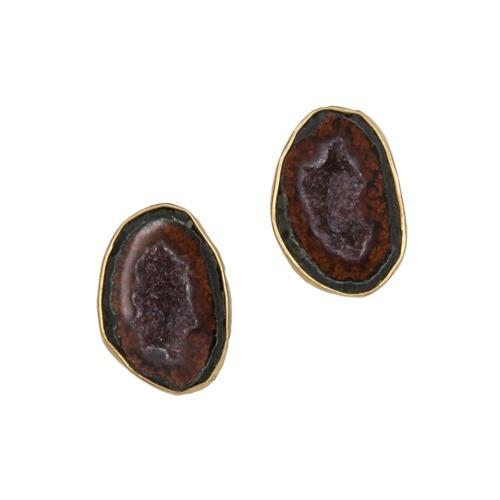 Alchemia Tabasco Geode Post Earrings | Charles Albert Jewelry
