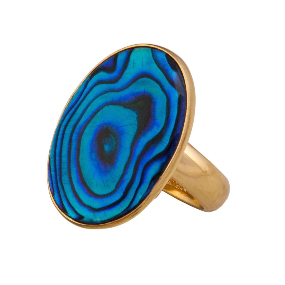 alchemia-blue-abalone-adjustable-ring - 1 - Charles Albert Inc