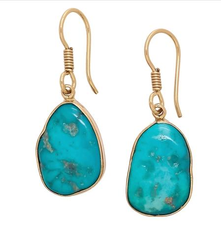 Alchemia Sleeping Beauty Turquoise Freeform Drop Earrings | Charles Albert Jewelry