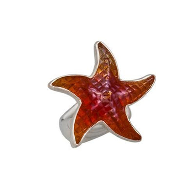 Sterling Silver Glass Starfish Ring