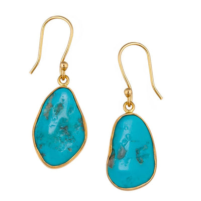 alchemia-sleeping-beauty-turquoise-freeform-earrings - 1 - Charles Albert Inc