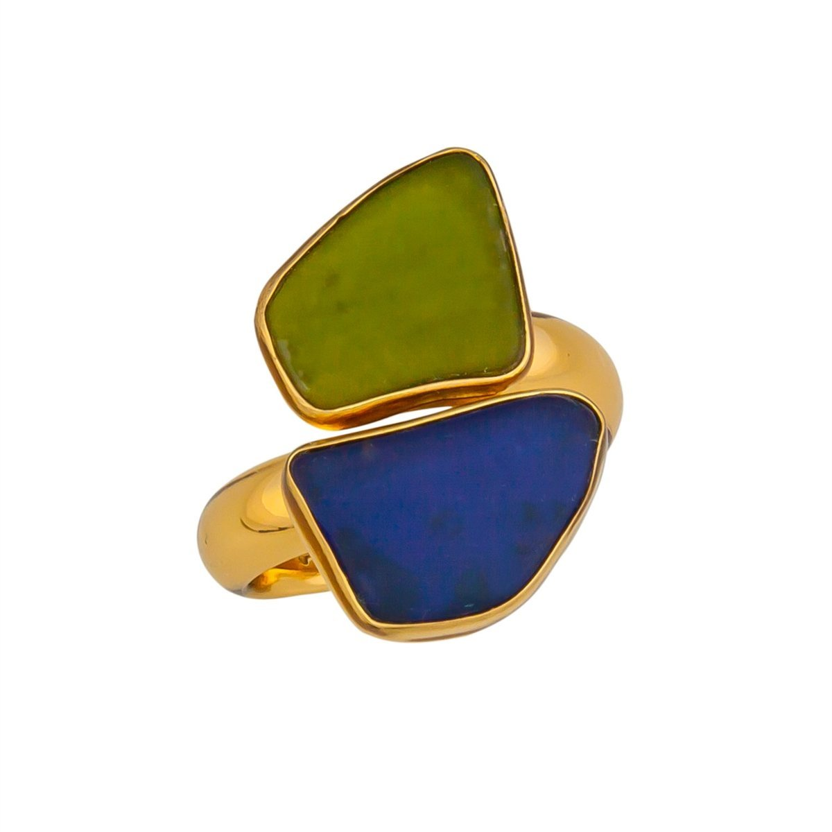 Alchemia Recycled Glass Bypass Adjustable Ring | Charles Albert Jewelry