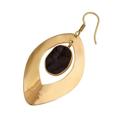 alchemia-druse-drop-earrings - 2 - Charles Albert Inc