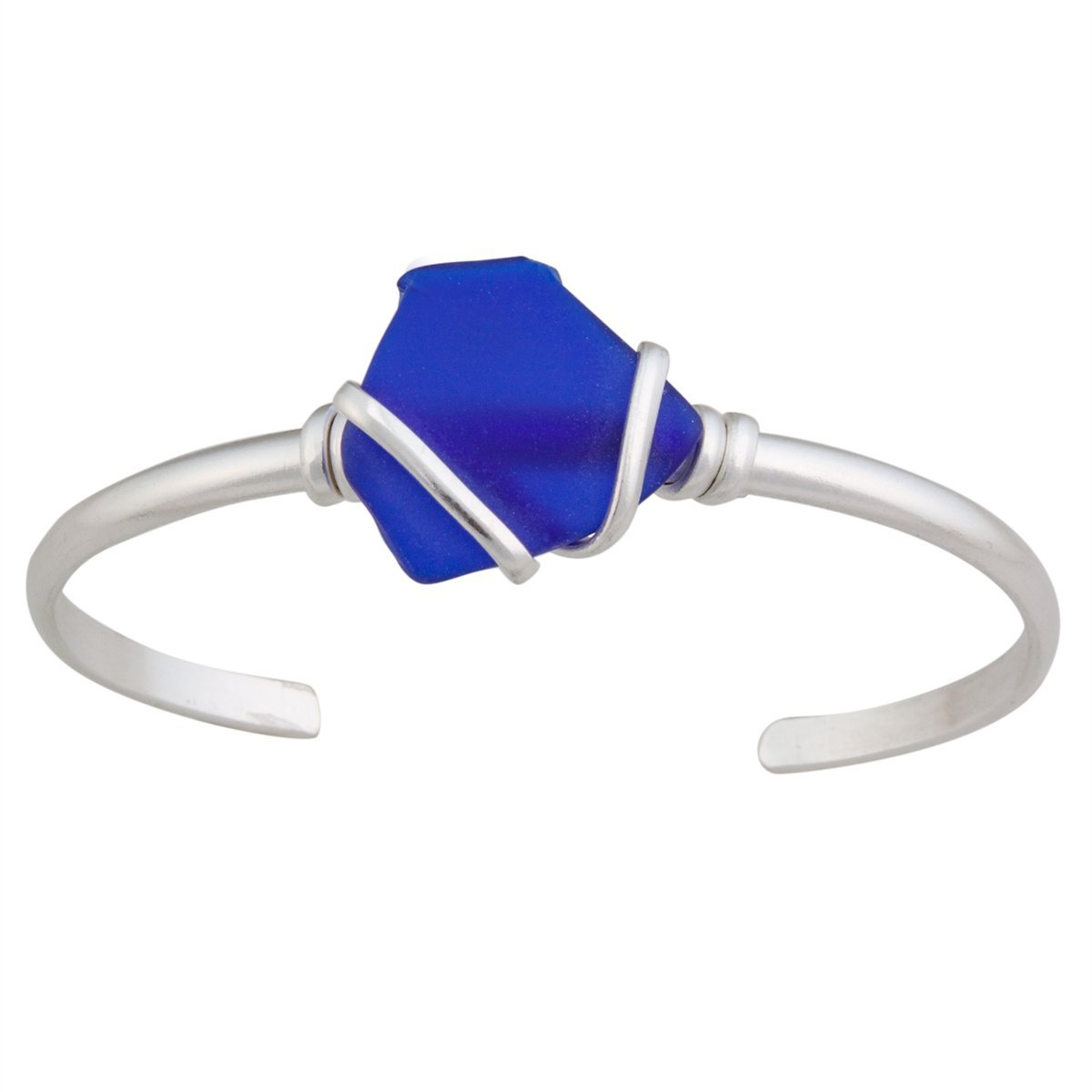 Alpaca Recycled Glass Mini Cuff - Cobalt Blue | Charles Albert Jewelry
