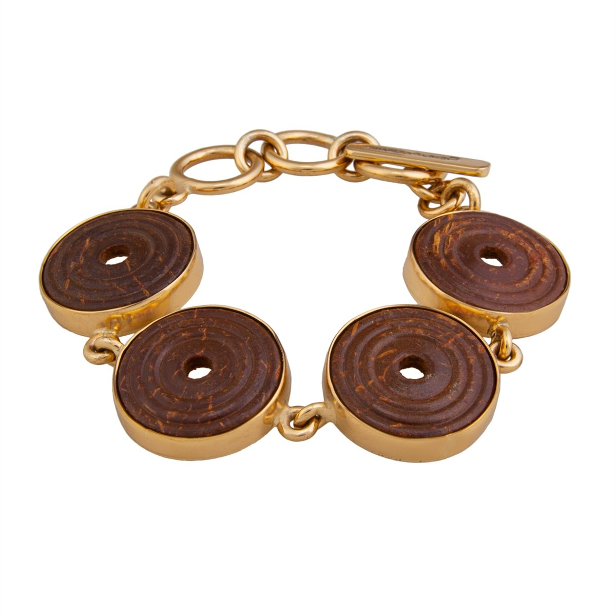 Alchemia Brown Wood Disc Bracelet | Charles Albert Jewelry