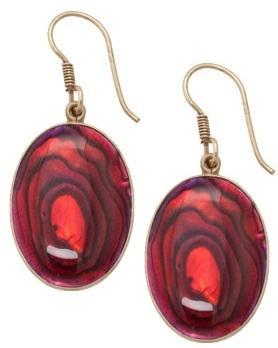 alchemia-red-abalone-earrings - 1 - Charles Albert Inc