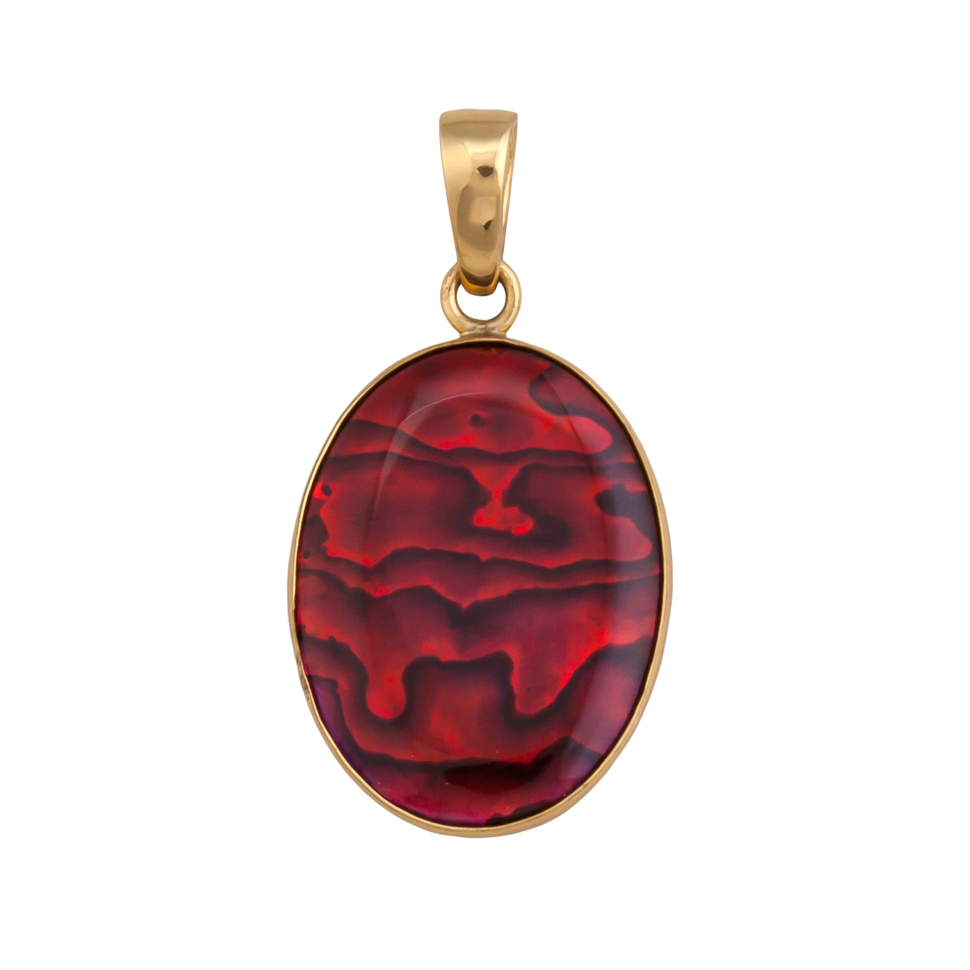 Alchemia Red Abalone Pendant