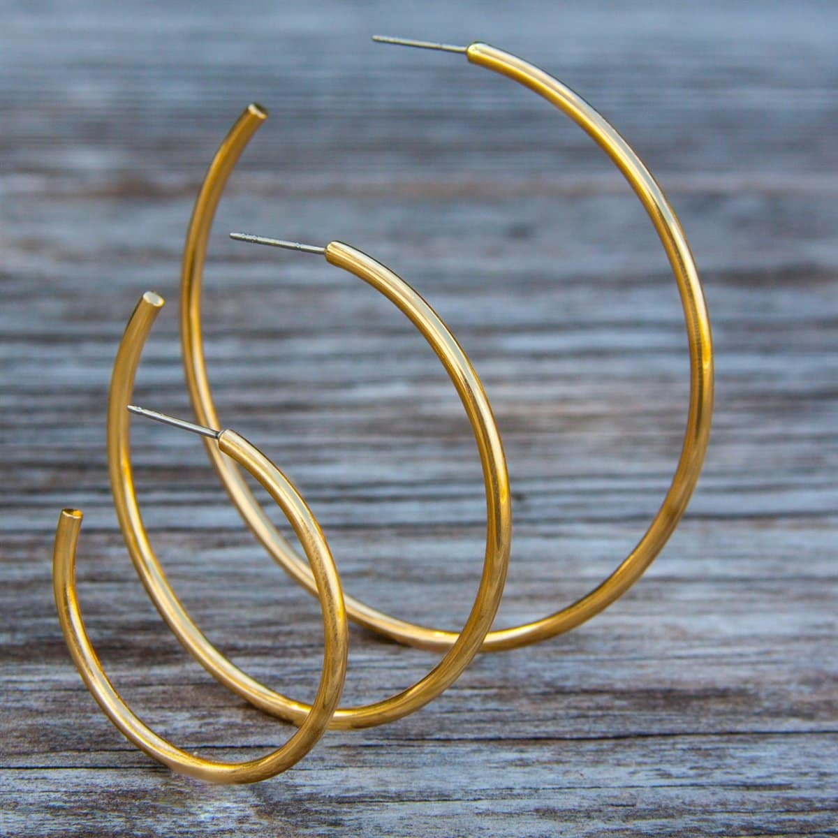 Alchemia High Polish Hoop Post Earrings | Charles Albert Jewelry
