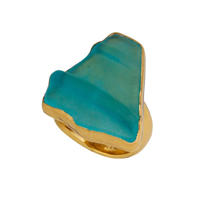 alchemia-aqua-recycled-glass-adjustable-ring - 2 - Charles Albert Inc