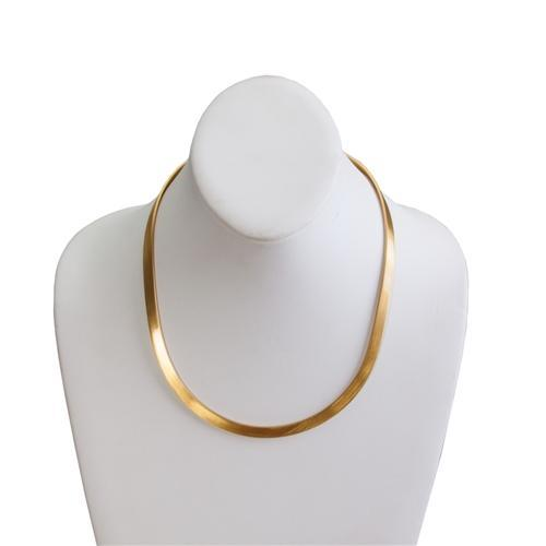 Alchemia Thicker Matte Oval Neckwire with Clasp | Charles Albert Jewelry