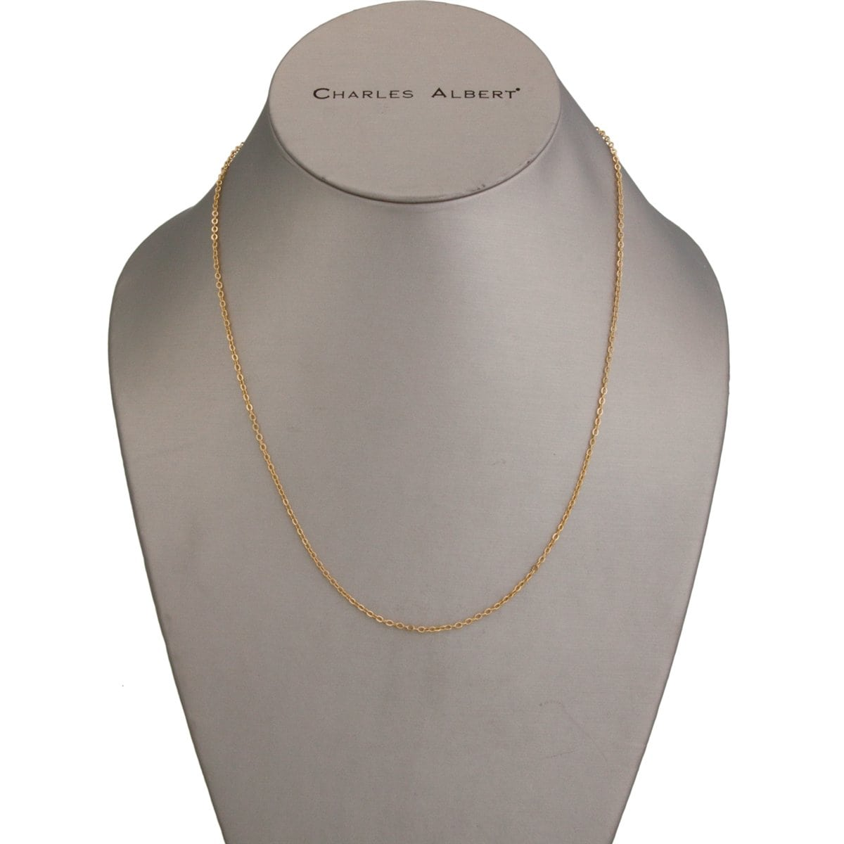 "Thin Gold Tone Base Metal Chain - 17"" + 3"" Extender 