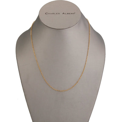thin-gold-tone-base-metal-chain-17-3-extender - 1 - Charles Albert Inc