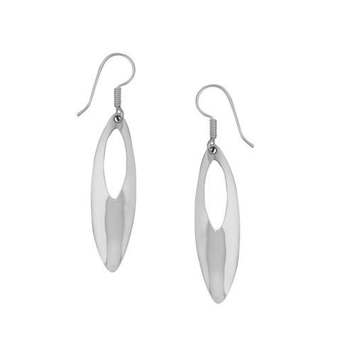 Sterling Silver Oval Cut Drop Earrings | Charles Albert Jewelry