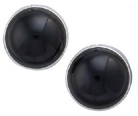 sterling-silver-black-onyx-post-earrings - 1 - Charles Albert Inc