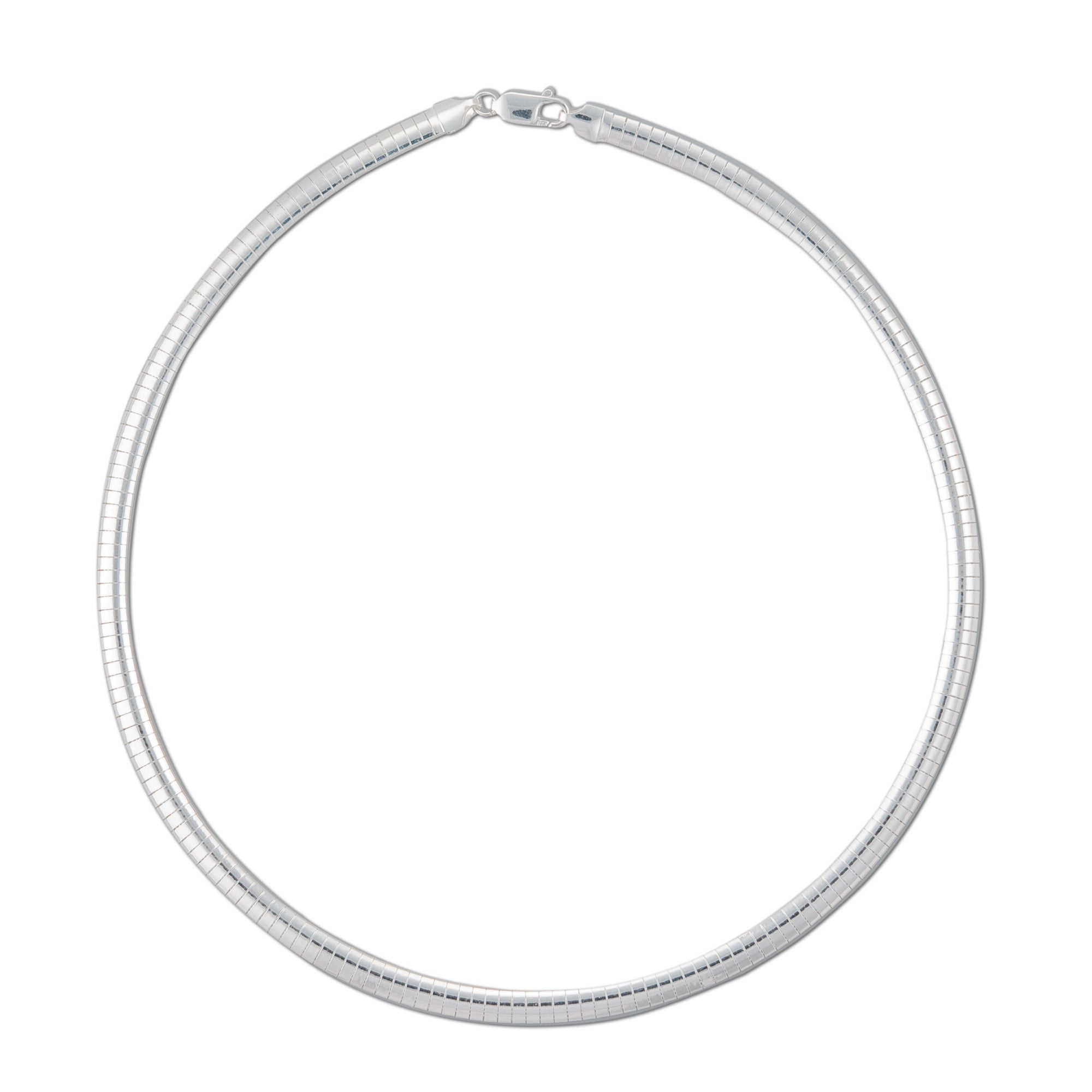 4mm Sterling Silver Classic Omega | Charles Albert Jewelry