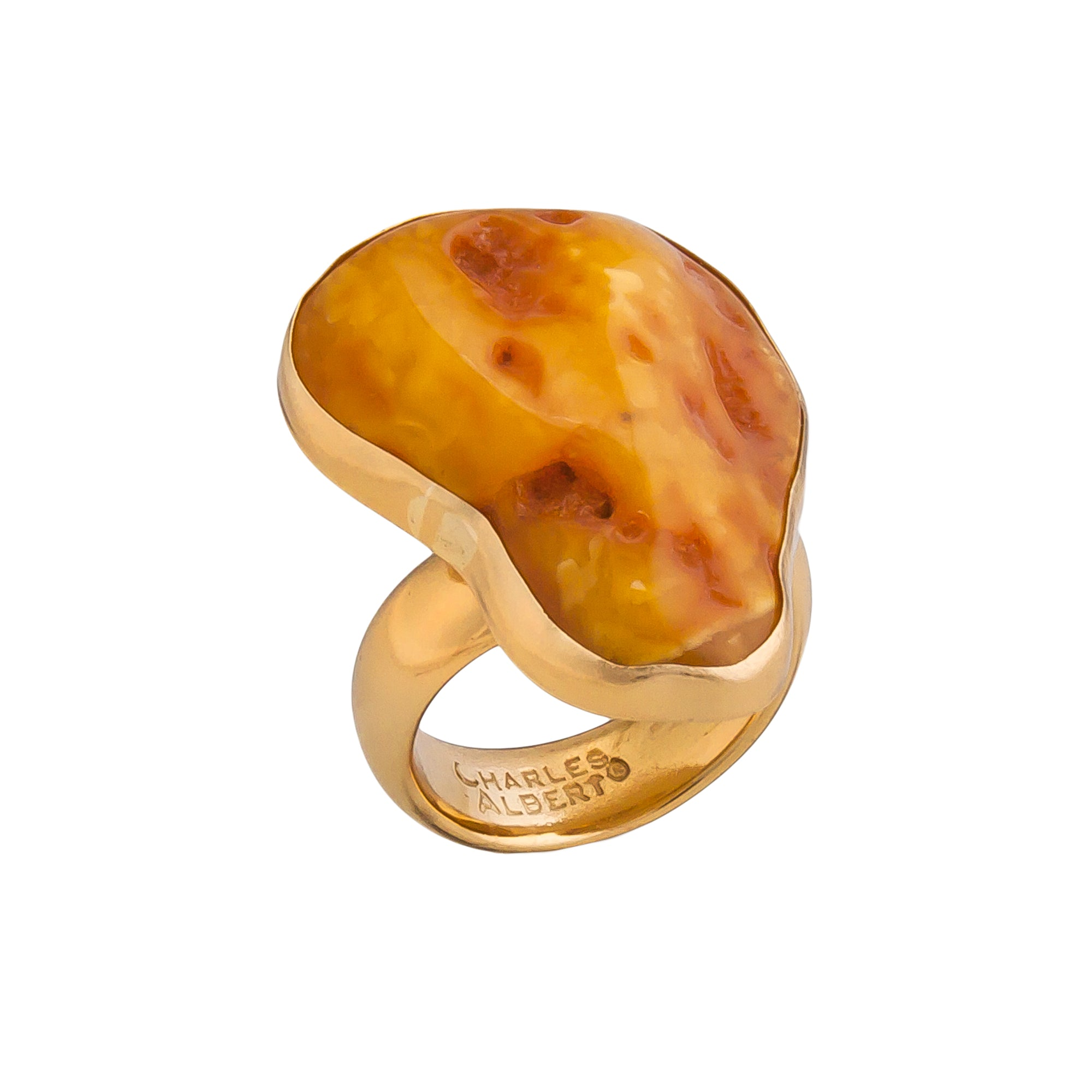 Alchemia Amber Adjustable Ring | Charles Albert Jewelry