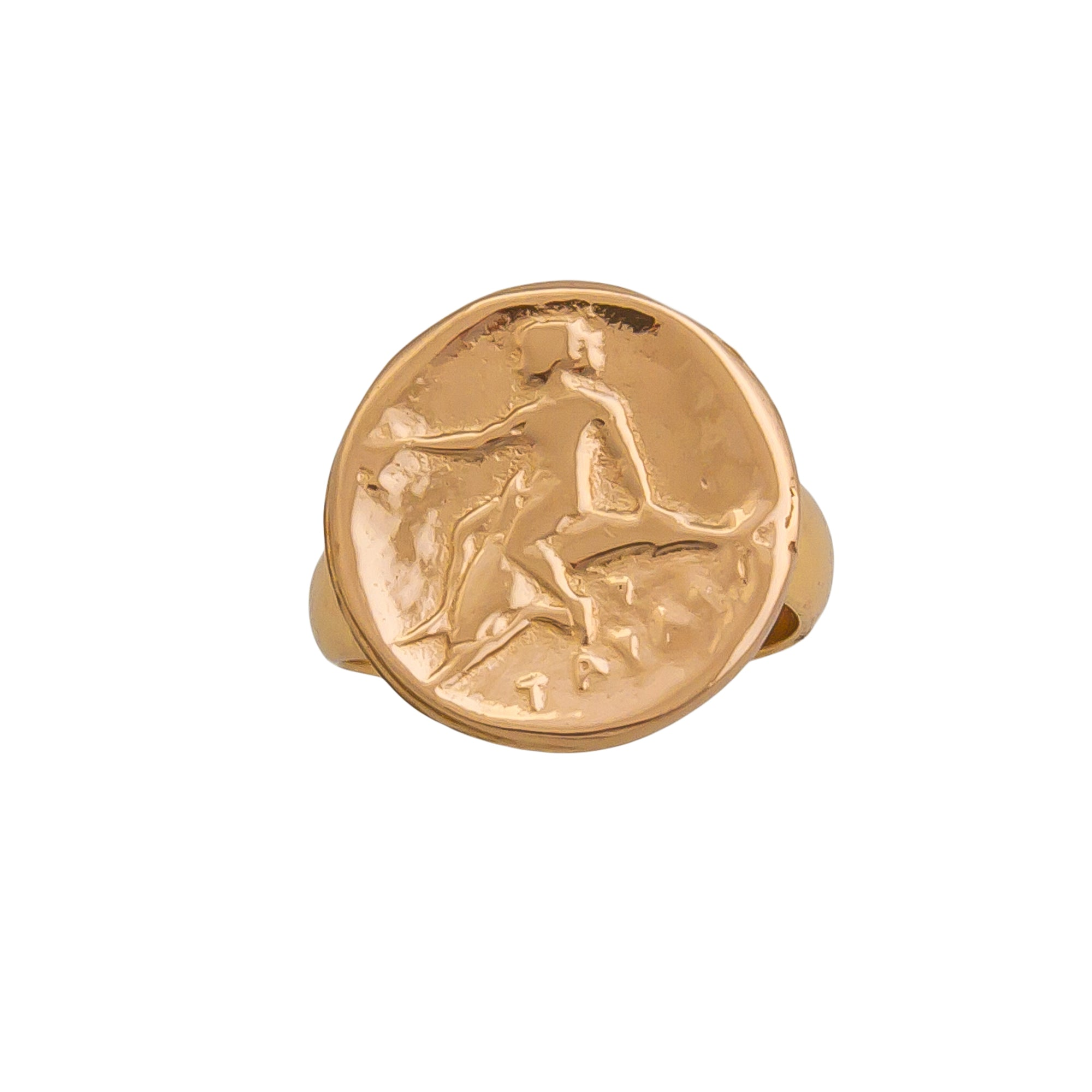 Alchemia Replica Boy on Dolphin Adjustable Ring | Charles Albert Jewelry