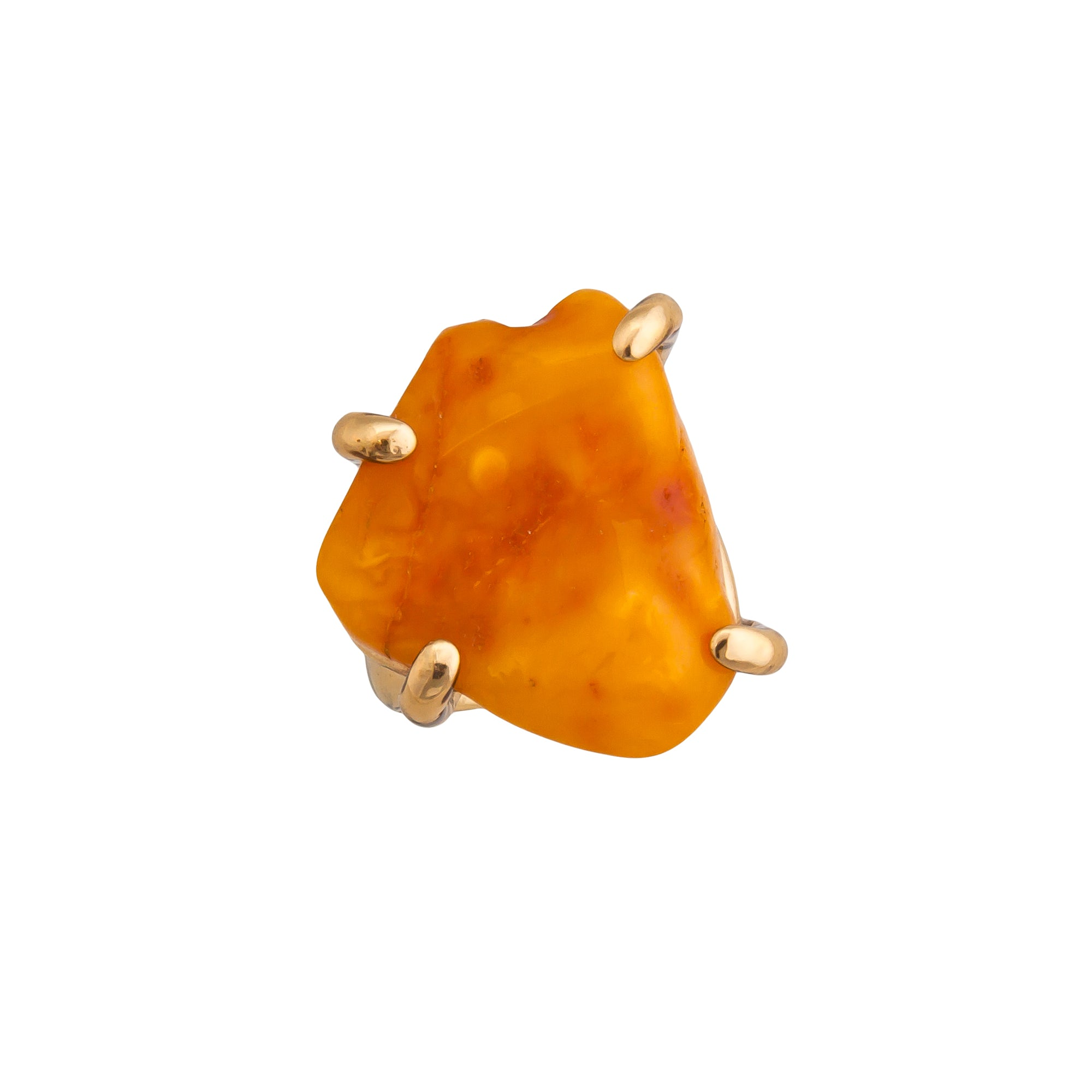 Alchemia Amber Prong Set Adjustable Ring | Charles Albert Jewelry