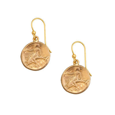 Alchemia Boy on Dolphin Earrings