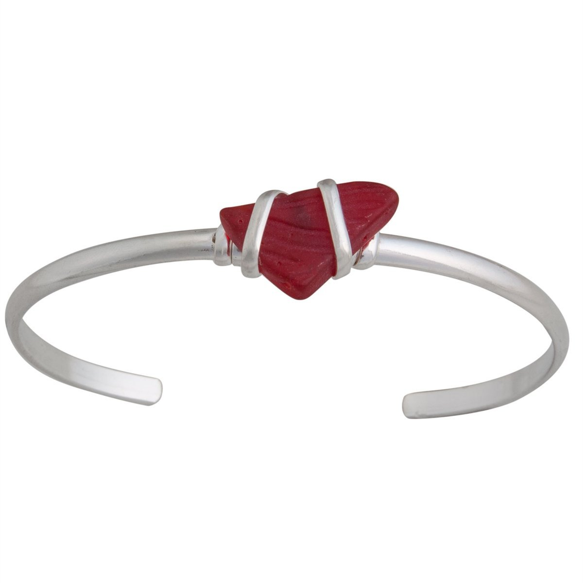 Alpaca Recycled Glass Mini Cuff - Red | Charles Albert Jewelry